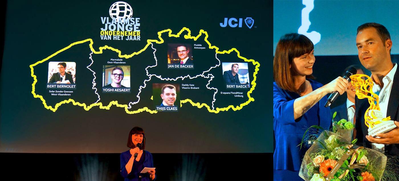 Bert Baeck receives JCI Entrepreneur of the Year Award