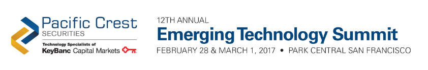 Pacific Crest Emerging Technology Summit