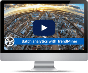 Batch analytics with TrendMiner